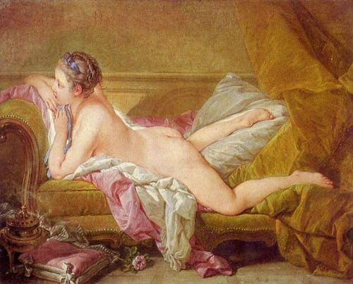 Reclining Girl by Francois Boucher