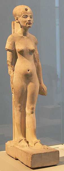 Standing-striding figure of Nefertiti, Amarna