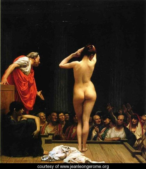 Selling Slaves in Rome by Jean-Léon Gérôme (1886)