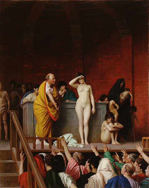 Slave Market in Rome by Jean-Leon Gerome (c.1884)