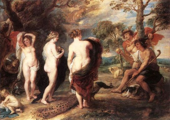 Judgement of Paris by Peter Paul Rubens, c. 1636, National Gallery, London