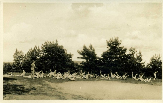 Freikörperkultur - Freisonnland Nudist camp, Motzenmuhle Berlin 1930s postcard by sludgegulper | Flickr - Photo Sharing!