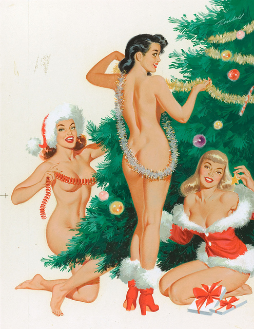 Bill Randall Jingles, Joy, and Merry, calendar illustration, December 1954