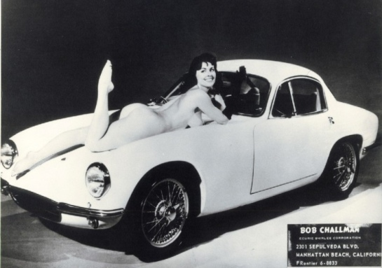 1960s - Mk1 Lotus Elite with model. Bob Challman Nude Woman promo by bickars | Flickr - Photo Sharing!