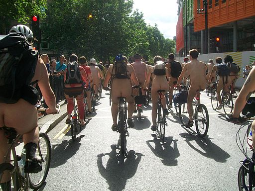 World Naked Bike Ride - London 2009 (Wikimedia Commons)