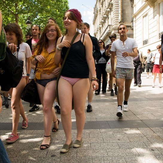 No-Pants Day in Paris 2009 By Tonio Vega | Flickr - Photo Sharing!