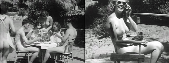 "Image: frames from ""Expose of The Nudist Racket"" (1938)"