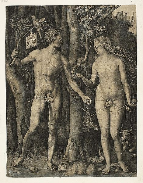 Adam and Eve by Albrecht Dürer (1471–1528)