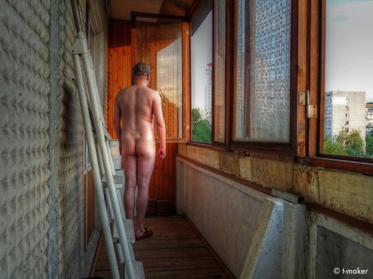 Nude in the Evening (Self-Portrait) by t-maker