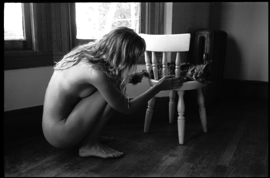 Nude with cat on chair by angrylambie1 | Flickr – Photo Sharing!