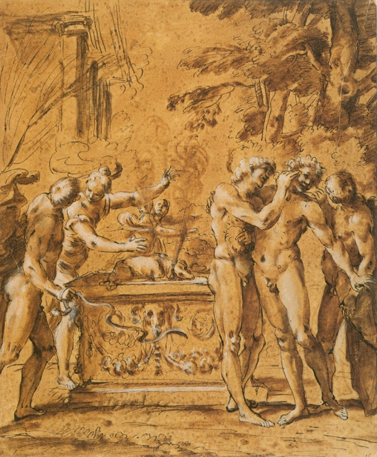 Study for Lupercalia by Annibale Carracci (16th century)